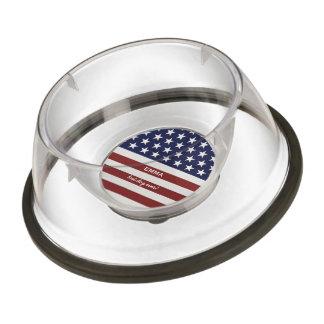 Los E.E.U.U. bandera americana personalizado Cuenco Acrílico