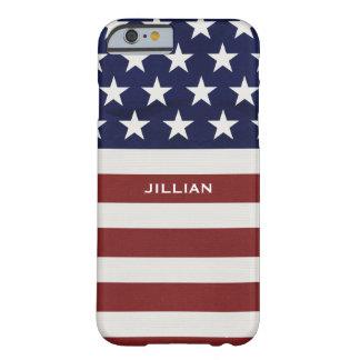 Los E.E.U.U. bandera americana personalizado Funda Barely There iPhone 6