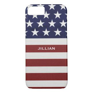 Los E.E.U.U. bandera americana personalizado Funda iPhone 7