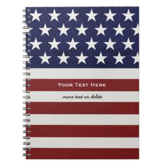 Los E.E.U.U. bandera americana personalizado Libretas Espirales