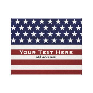 Los E.E.U.U. bandera americana personalizado Lona Envuelta Para Galerias