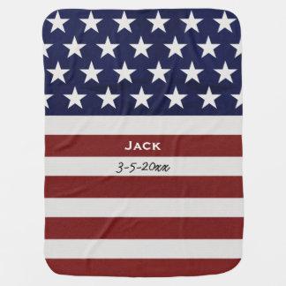 Los E.E.U.U. bandera americana personalizado Mantitas Para Bebé