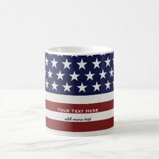 Los E.E.U.U. bandera americana personalizado Taza Básica Blanca