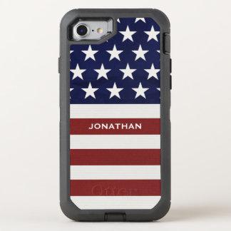 Los E.E.U.U. bandera americana premio patriótico Funda OtterBox Defender Para iPhone 7