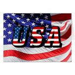 Los E.E.U.U. - Bandera americana Tarjeta Pequeña