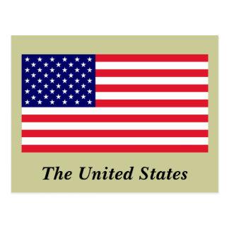 Los E.E.U.U. - Bandera americana Tarjeta Postal