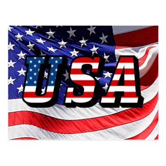 Los E.E.U.U. - Bandera americana Postal