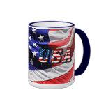 Los E.E.U.U. - Bandera americana Taza A Dos Colores
