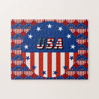 LOS E.E.U.U. - Bandera americana y estrellas en Puzzle