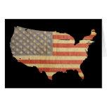 Los E.E.U.U. bandera tarjeta de felicitación del 4