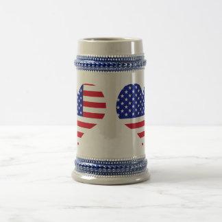 Los E.E.U.U. Bandera Jarra De Cerveza