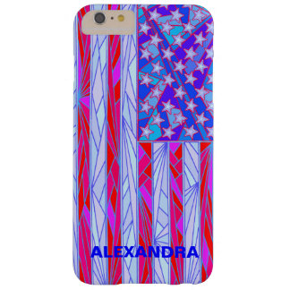 Los E.E.U.U. blancos de la bandera americana y Funda De iPhone 6 Plus Barely There