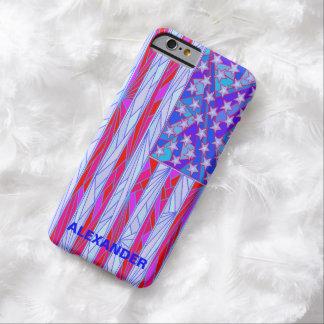 Los E.E.U.U. blancos de la bandera americana y Funda De iPhone 6 Barely There