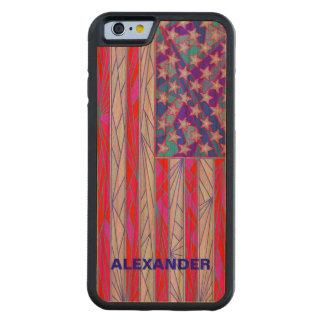 Los E.E.U.U. blancos de la bandera americana y Funda De iPhone 6 Bumper Cerezo