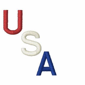 Los E.E.U.U. blancos y azul bordados rojos Chaquetas Bordadas