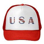 Los E.E.U.U. blancos y azules rojos frescos patrió Gorra