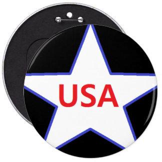 Los E.E.U.U. botón de 6 pulgadas Pins