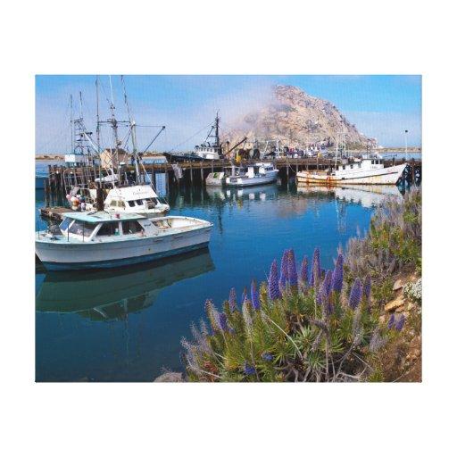 Los E.E.U.U., California. Barcos atracados en la Impresion En Lona