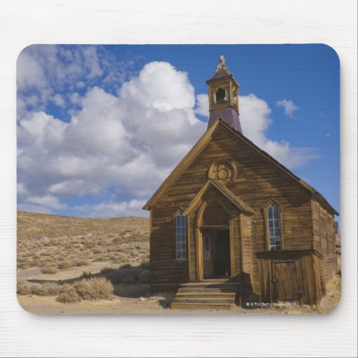 Los E.E.U.U., California, Bodie, iglesia vieja en  Mousepad