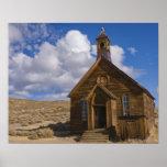 Los E.E.U.U., California, Bodie, iglesia vieja en  Póster