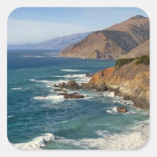 Los E.E.U.U., California, costa costa grande de Calcomanía Cuadradase