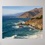 Los E.E.U.U., California, costa costa grande de Su Póster