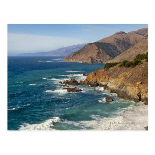 Los E.E.U.U., California, costa costa grande de Su Tarjetas Postales
