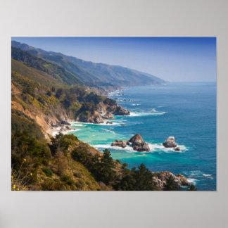 Los E.E.U.U., California. Costa de California, Sur Póster