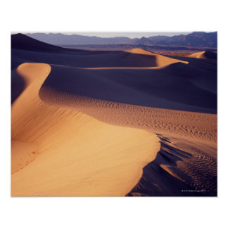 Los E E U U California Death Valley dunas de a Poster