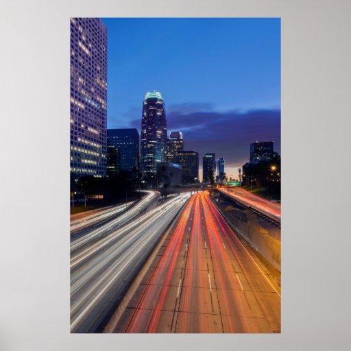 Los E.E.U.U., California, Los Ángeles, autopista Poster