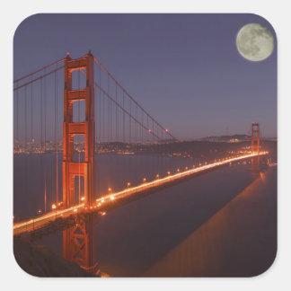 Los E.E.U.U., California, Marin. Salida de la luna Pegatina Cuadrada