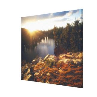 Los E.E.U.U., California, montañas de Sierra Nevad Lona Envuelta Para Galerias