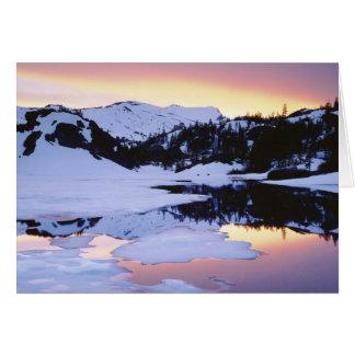 Los E.E.U.U., California, montañas de Sierra Nevad Tarjeta De Felicitación
