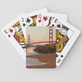 Los E.E.U.U., California. Opinión de puente Golden Cartas De Juego