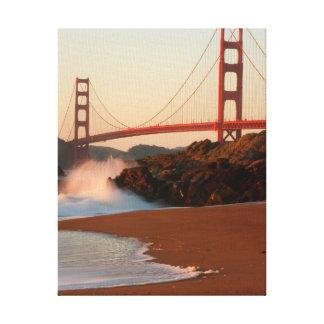 Los E.E.U.U., California. Opinión de puente Golden Impresión En Lienzo