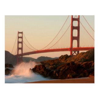 Los E.E.U.U., California. Opinión de puente Golden Postal