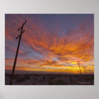 Los E.E.U.U., California, Palm Springs, línea Póster