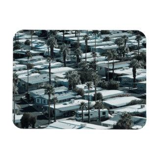 Los E.E.U.U., California, Palm Springs. Parque de  Iman Rectangular
