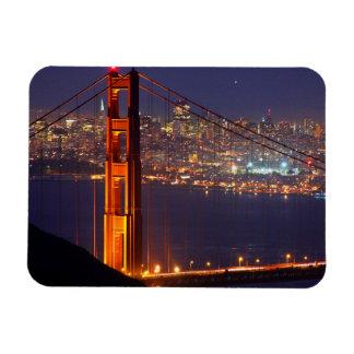 Los E.E.U.U., California. Puente Golden Gate en la Imanes Rectangulares