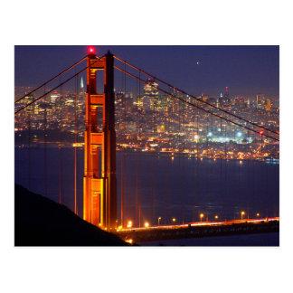 Los E.E.U.U., California. Puente Golden Gate en la Postales