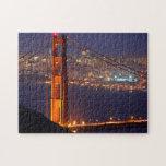 Los E.E.U.U., California. Puente Golden Gate en la Rompecabezas Con Fotos