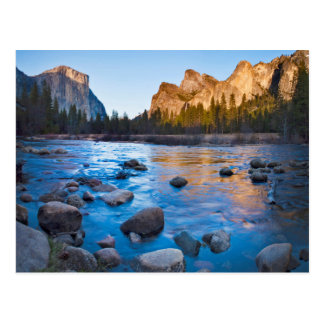 Los E.E.U.U., California. Reflexiones rocosas en Tarjeta Postal