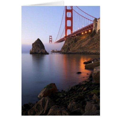 Los E.E.U.U., California, San Francisco. Golden Ga Felicitación
