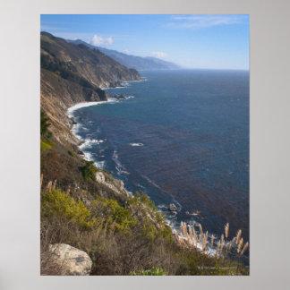 Los E.E.U.U., California, Sur grande, costa costa Póster
