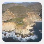 LOS E.E.U.U. California. Sur grande. Puente de Pegatina Cuadrada