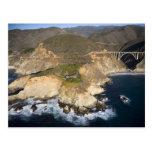 LOS E.E.U.U. California. Sur grande. Puente de Postal