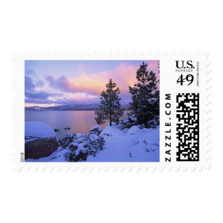 Los E.E.U.U., California. Un día de invierno en el Sellos Postales
