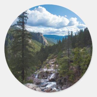 Los E.E.U.U., California. Valle Vista de Yosemite Pegatina Redonda