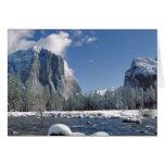 Los E.E.U.U., California, Yosemite NP. El río de M Tarjetón