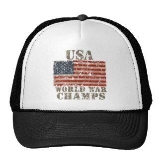 Los E.E.U.U., campeones de la guerra mundial Gorros Bordados